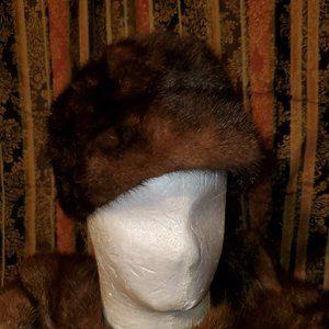 Mink Fur Hat - 1960s  VINTAGE